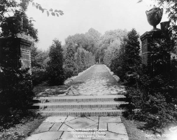 The British Cultural Garden in 1935... originally called the Shakespeare Garden